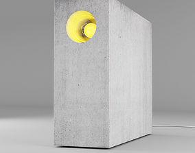 3D Concrete table light 2