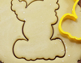 3D printable model 0010 The Rudolph deer cookie cutter for