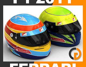 Helmet F1 2011 Fernando Alonso and Felipe Massa 3D