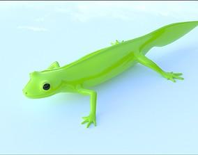Lizard Triturus Alpestris lowpoly basemesh 3D asset