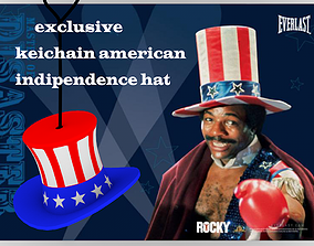 american indipendence hat keichain 3D printable model