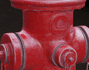 Old fire hydrant 3D