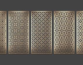 3D model Decorative panel set 80