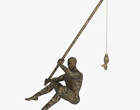fisherman is cast iron with a bronze finish 3D model