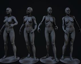 creepy mannequins 3D asset