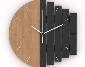 Industrial Modern Wall Clock 3D