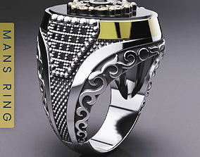 3D printable model turkish mens ring
