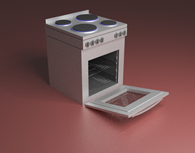 3D model Stove With Oven
