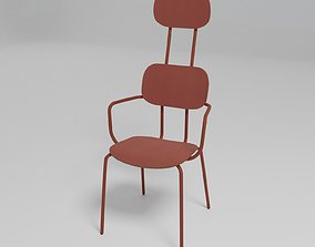 NEW SCHOOL - Plywood office chair with armrests - 3D