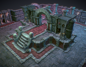 Dungeon Starter Set - Low Poly Hand Painted 3D asset