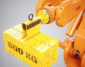 Industrial Robot Car Lift 3D model
