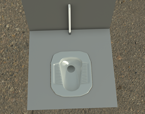 Squatting WC Toilet For Bathrooms 3D model