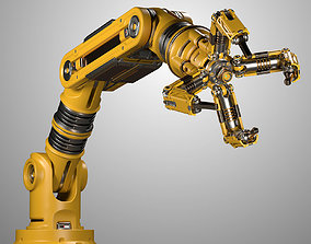 Robotic Arm Rigged and Animated 3D model