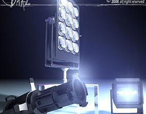 Stage light set 3D