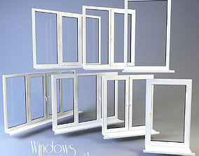 Windows collection white 3D