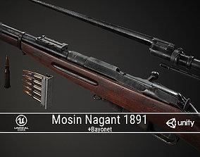 PBR Soviet Mosin Nagant 1891 3D asset