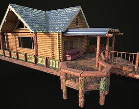 The lake house barn log cabin 3D model