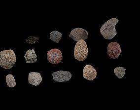 Stones Pack 3D asset low-poly
