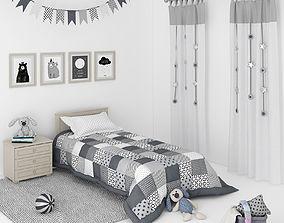 furniture 3D model Decorative set for a Kids bedroom