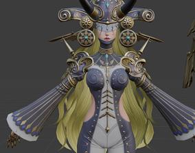 Lilietta character woman 3D model rigged