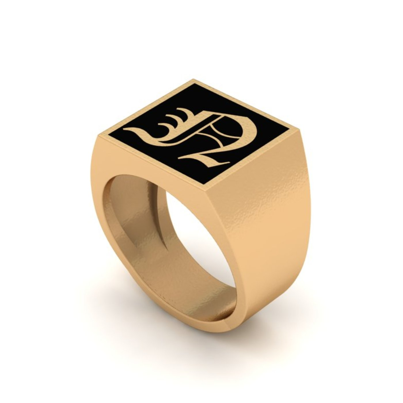 Old English Letter Rings Collection