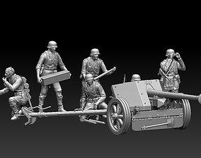 3D print model German artillery