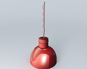 Red lamp 3D