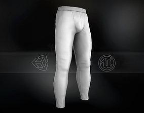 White Skinny Medieval Pants 3D model