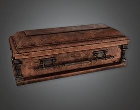 Cemetery Coffin 1 CEM - PBR Game Ready 3D model