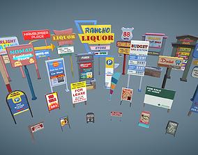 Signages Props 3D model