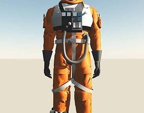 fighter flight Pilot 3D model