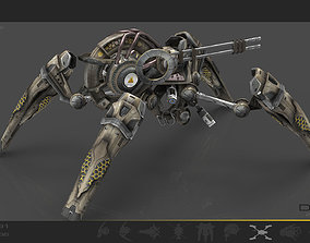 3D asset Drone v6 Spider SciFi - animated