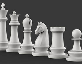 3D printable model Complete Chess Pieces