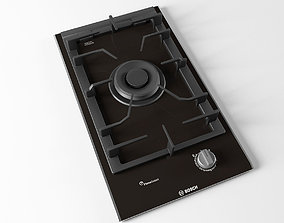 Cooktop 01 3D model hob