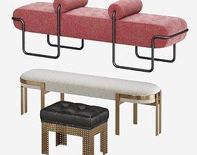 3D model Kelly Wearstler - Benches ottomans