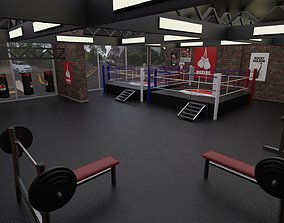 3D model Boxing Studio - Training Gym Interior