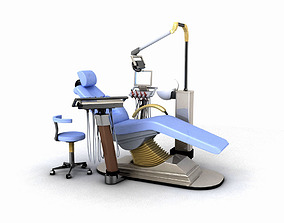 Dental Chair 3D teeth