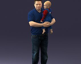 3D Man with child 0132
