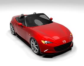 MAZDA MX 5 CABRIO LOWPOLY 3D model