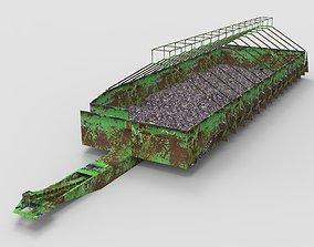 3D model Coal warehouse Coke storage