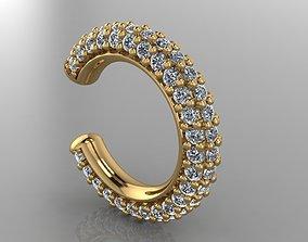 GC GOLD E057- Diamond Cartilage Earring 3D printable model