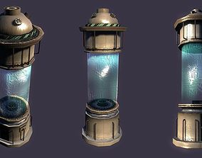 Science Fiction Incubator or Stasis Pod 3D asset