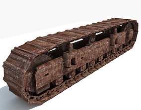 Rusted Crawler Track 3D