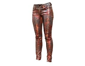 Unreal Pants Shiny Red 3D asset