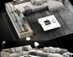 3D model Poliform Bristol Sofa 2