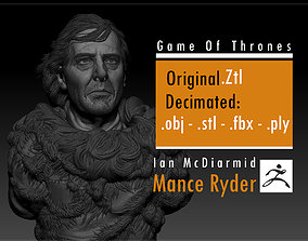 3D print model Ciaran Hinds - Mance Rayder - Game Of