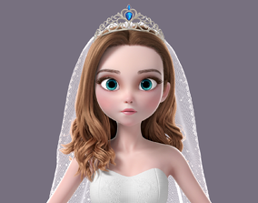 3D model Cartoon Bride NoRig