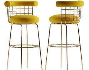 Bar chair BERRY 3D model