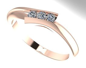 3D print model bypass diamond ring