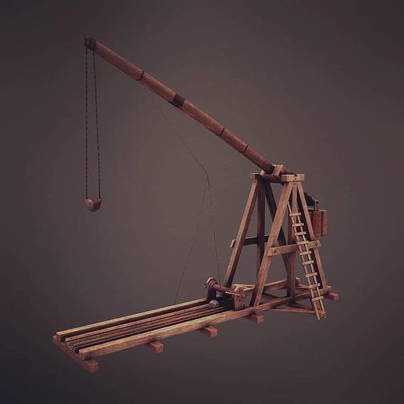 Trebuchet Medieval 3D Model